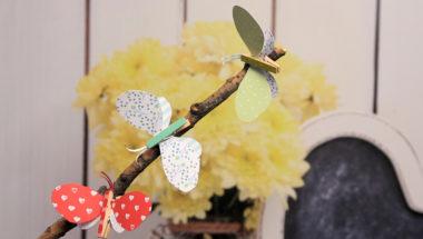 Schmetterlinge basteln und als Deko benutzen.