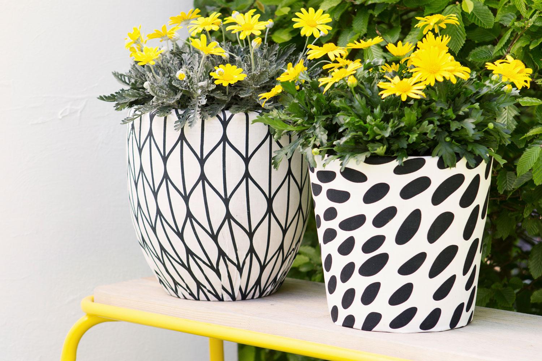 Blumentöpfe für den Frühling - aus alt mach neu