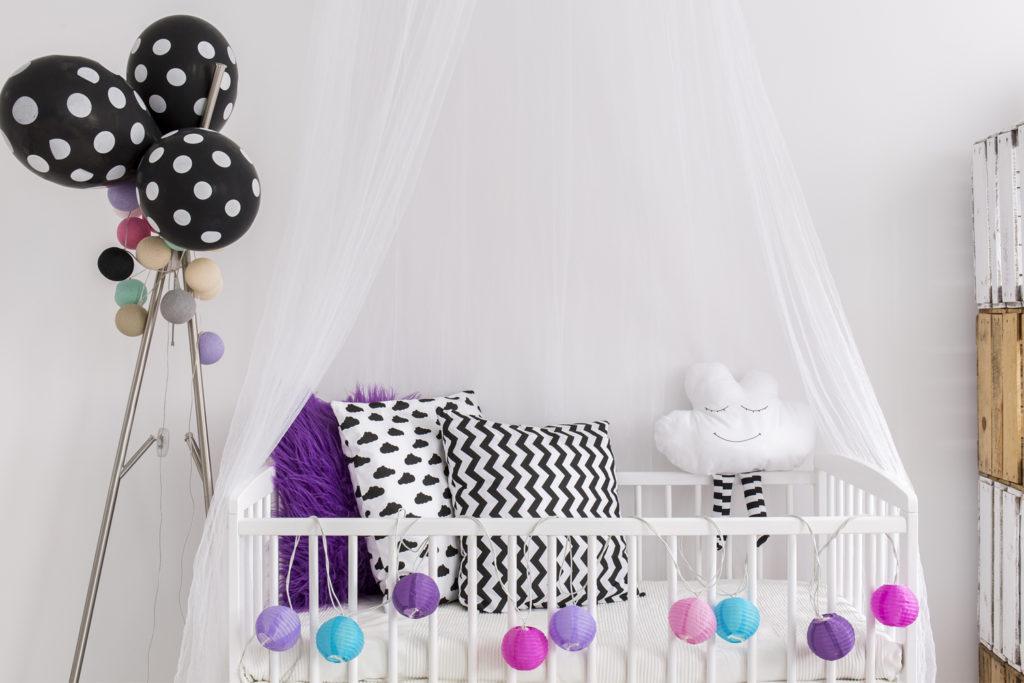 Deko Babyzimmer für kleines Mädchen.