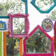 Spiegel im Garten selber machen