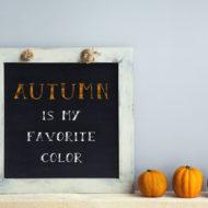 Herbstdeko selber machen aus Blättern, Kürbissen und Eicheln