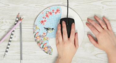 Mousepad mit Serviettentechnik selber machen
