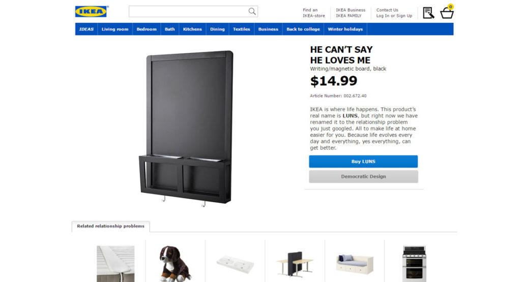 Neue Werbekampagne von Ikea löst Beziehungsprobleme