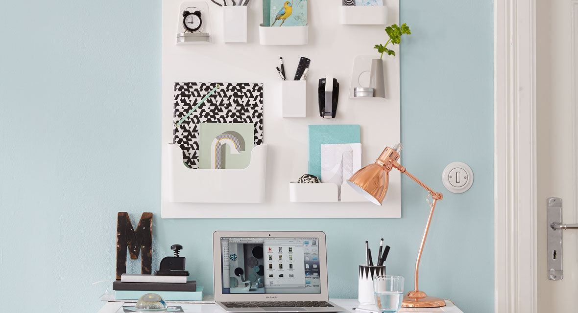 Wandorganizer für den Schreibtisch basteln