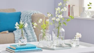 Vasen mit Tortenspitze selber machen