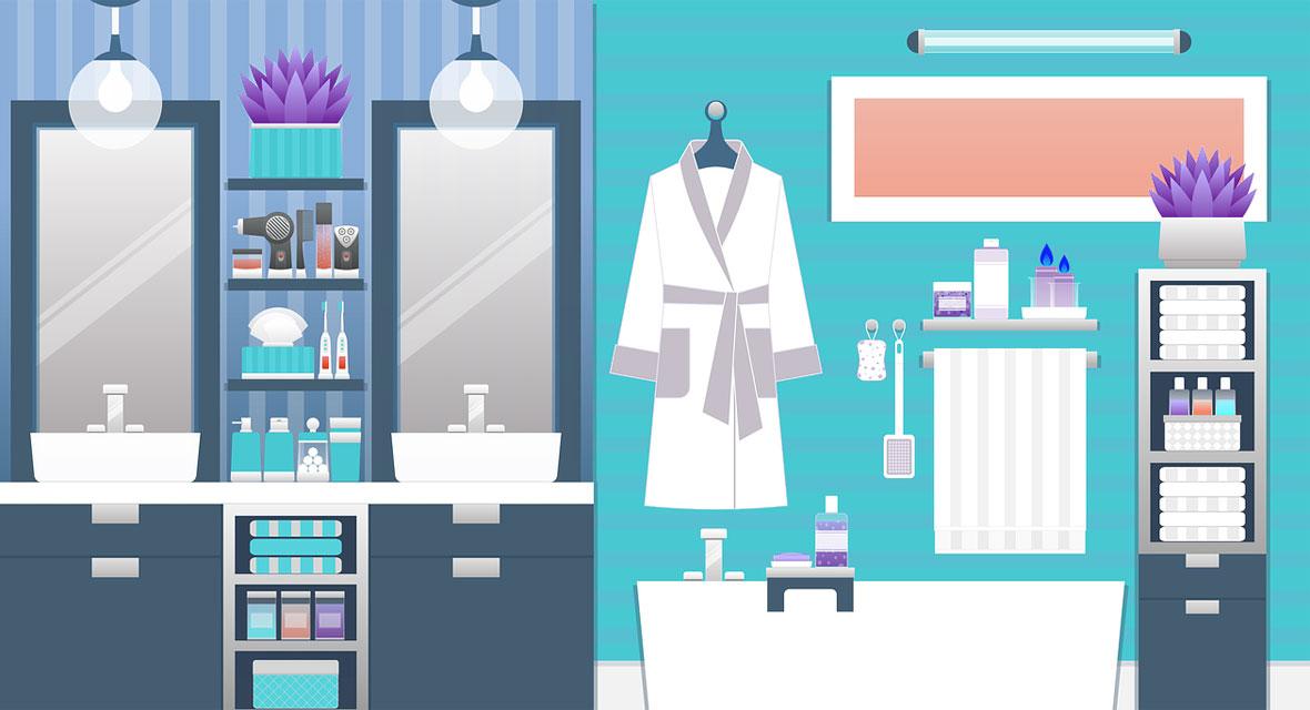 Illustration von einem Badezimmer