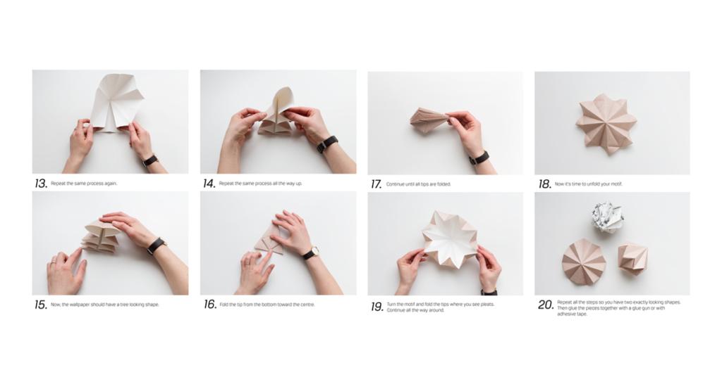 Anleitung zum Papier-Diamanten falten