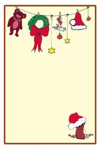 Wunschzettel-Vorlage mit Weihnachtsmann