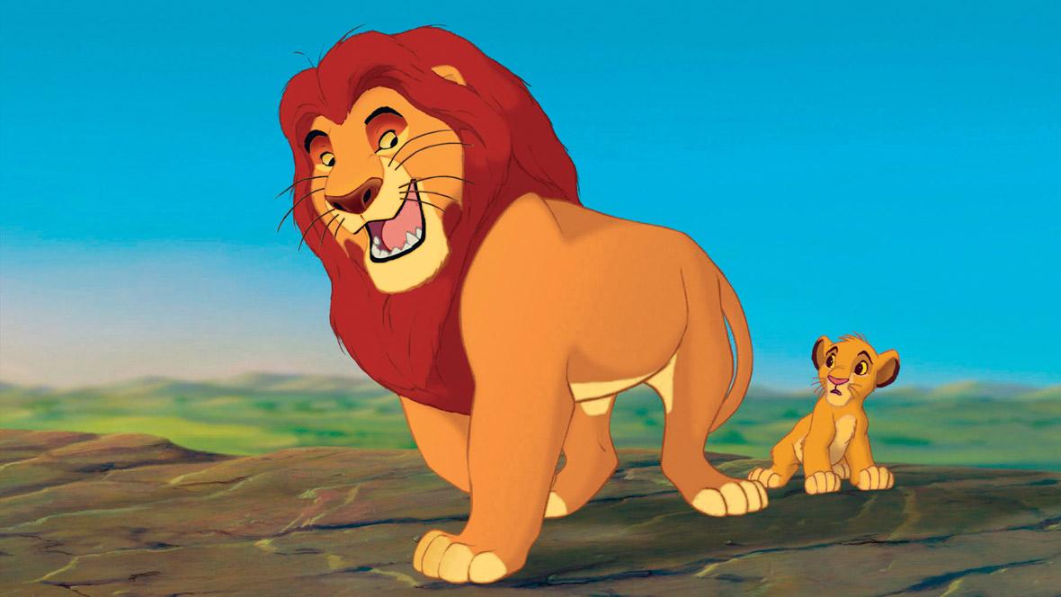 Mufasa und Simba aus 'Der König der Löwen'