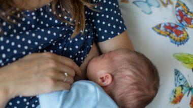 Mutter mit Milchstau stillt Baby